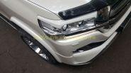 Накладки Реснички на переднею оптику (Окрашенные) для Toyota Land Cruiser 200 2015