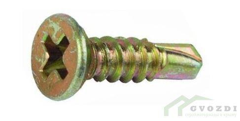 Саморезы оконные с буром 25х3.9 мм желтые (500 шт)