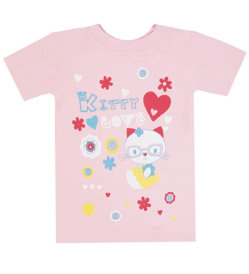 Футболка светло-розовая девочке 2 лет