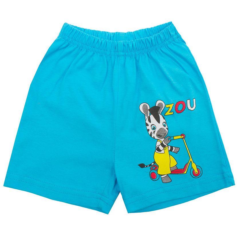 Бирюзовые шорты Zoo для детей 1-2 лет