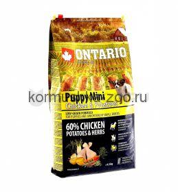 Ontario для щенков малых пород с курицей и картофелем