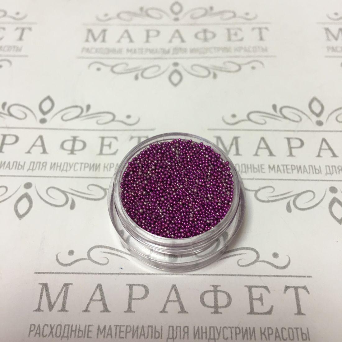 Бульонки для дизайна 2,5гр серебро-фиолет