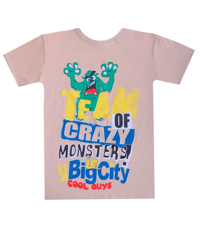 Бежевая футболка для мальчика