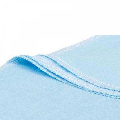 Голубая хлопковая пеленка, 85x120 см