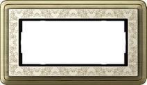 Gira ClassiX Art Бронза/Кремовый Рамка 2-ая без перегородки(1002663)