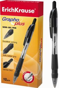 Ручка шариковая автоматическая GRAPHO (ЧЕРНАЯ)