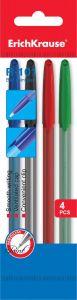 Набор ручек (синяя, черная, красная, зеленая)