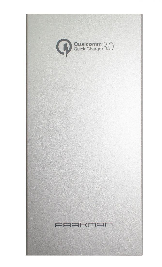 Портативный внешний аккумулятор PARKMAN L2 с функцией быстрой зарядки QC 3.0 (5V-12V, 1.5A-3A, 10000mAh)