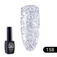 Гель-лак Global Fashion Black Elite №158, 8 мл