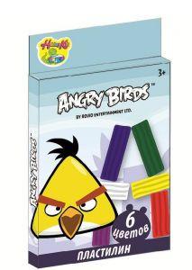 Пластилин Angry Birds (120 гр, 6 цветов)