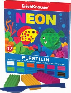Пластилин NEON (12 цветов, 216г)