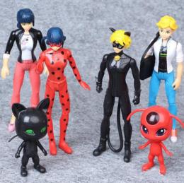 Набор Кукол из 6 героев мультсериала Miraculous (Леди Баг и Супер Кот)