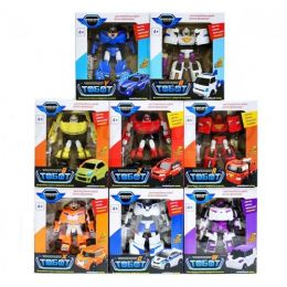 """(Сток по мятой упаковке) Набор из 8 Трансформеров Tobots 16 см """"Эволюция"""""""