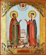 Петр и Феврония (рукописная икона)