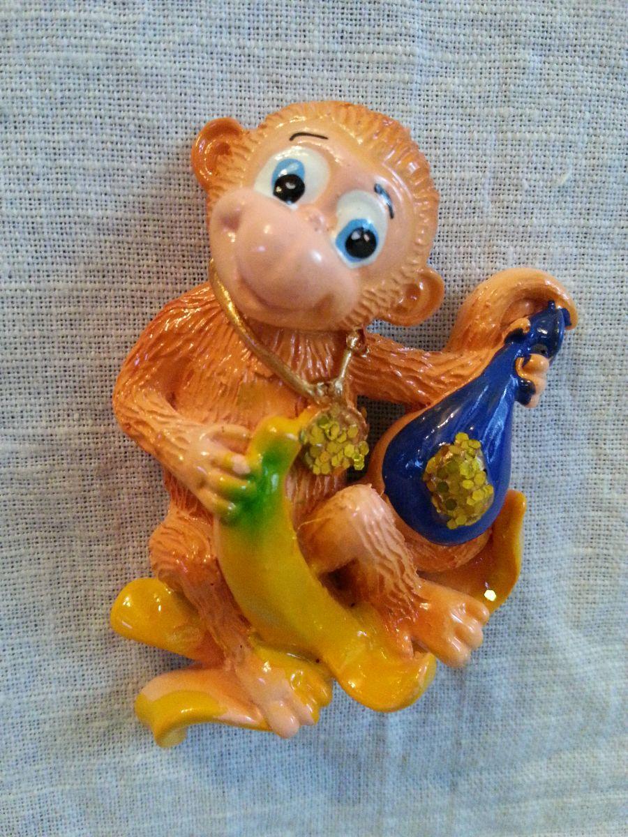 Магнит на холодильник обезьянка 002-3