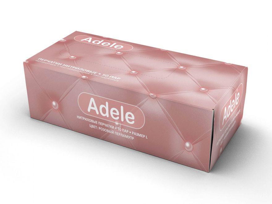 Adele-розовый перламутр нитриловые перчатки