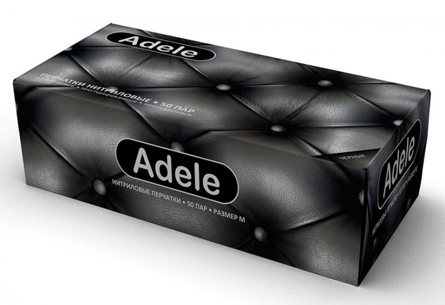 Adele-черные нитриловые перчатки