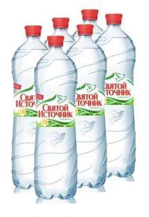 Доставка воды Святой источник, газ. 1,5 л, пэт (1 уп./6 бут.)