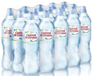 Доставка воды Святой источник, негаз. 0,75 л, пэт (1 уп./15 бут.)