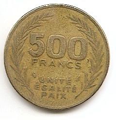 500 франков(Регулярный выпуск) Джибути 1989