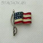 "Брошь ""Американский флаг"""