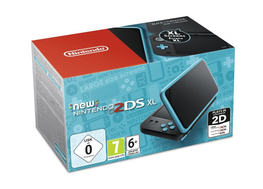 Игровая приставка New Nintendo 2DS XL (Black + Terquoise)