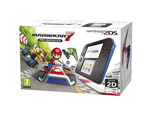Игровая приставка Nintendo 2DS (Синий + Черный) + игра New Mario Kart 7