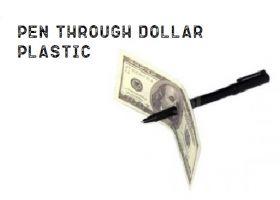 Ручка сквозь купюру Pen Through Dollar