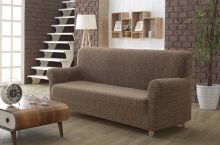 "Чехол для трехместного дивана  ""KARNA""  MILANO  (коричневый) Арт.2686-5"