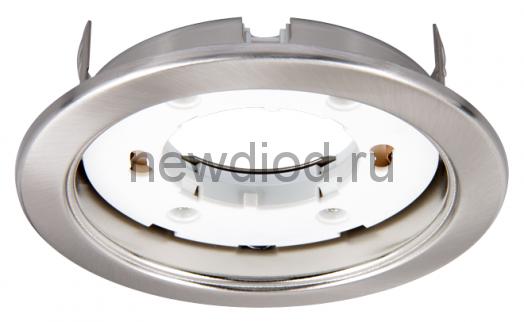Светильник встраиваемый GX53R-ECO пластик под лампу GX53 230В хром IN HOME