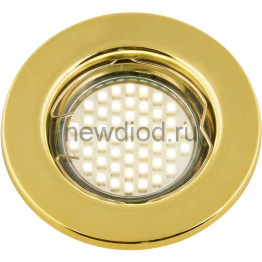 Светильник встраиваемый MR16R-RG-R металл под лампу JCDR GU5.3 ПОВОРОТНЫЙ 12/230В золото IN HOME