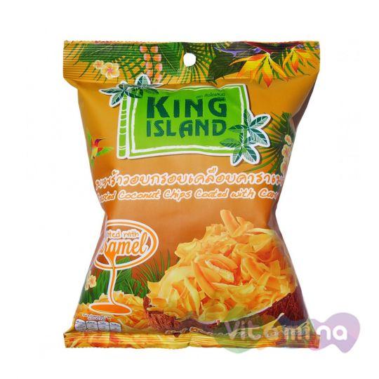 Кокосовые чипсы с карамелью, 40 гр