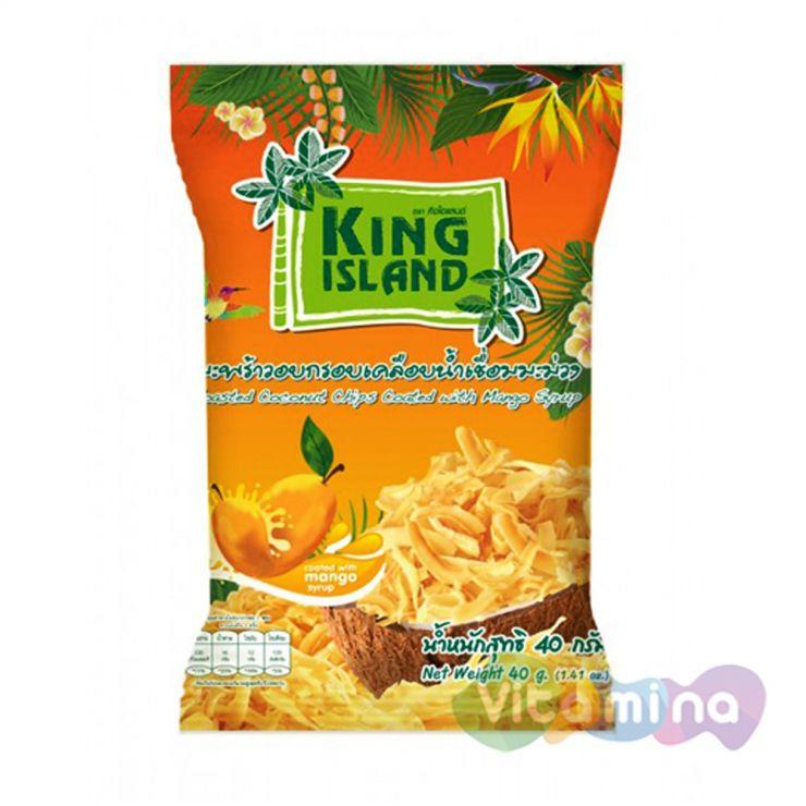 Кокосовые чипсы с манго, 40 гр