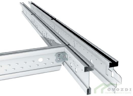 Направляющая рейка Грильято 100х100 мм 1.20 м серый металлик