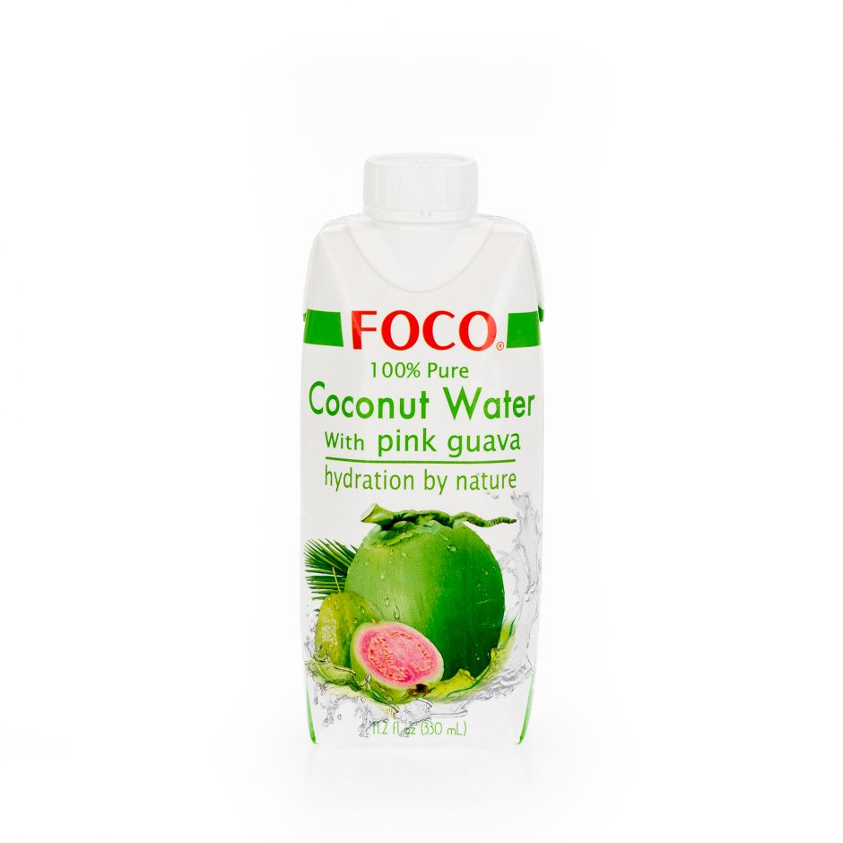 Кокосовая вода с розовой гуавой