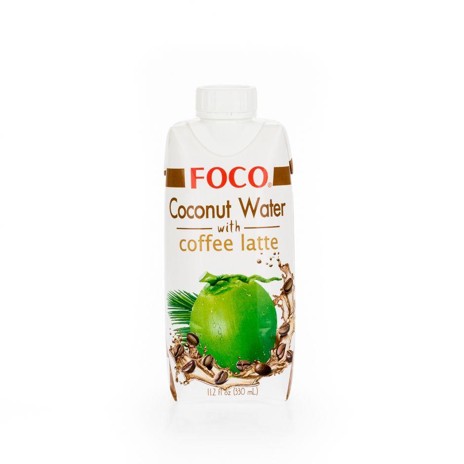 Кокосовая вода с кофе латте