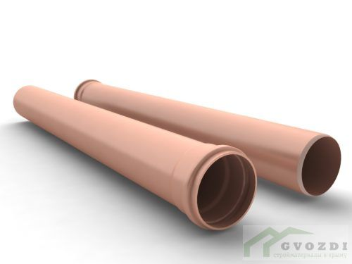 Колено трубы Vinyl-On пластиковое d90 мм 45° коричневое (кофе)