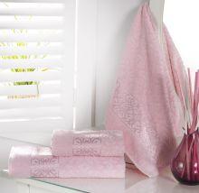 """Полотенце махровое жаккард """"KARNA"""" SAHRA  70*140 см (розовый) Арт.2762-7"""