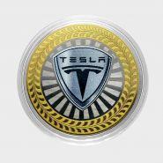 10 РУБЛЕЙ Tesla  ЦВЕТНАЯ ЭМАЛЬ - СЕРИЯ АВТОМОБИЛИ МИРА - АМЕРИКАНСКИЕ