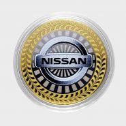 10 РУБЛЕЙ Nissan ЦВЕТНАЯ ЭМАЛЬ - СЕРИЯ АВТОМОБИЛИ МИРА - ЯПОНСКИЕ