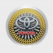 10 РУБЛЕЙ Toyota  ЦВЕТНАЯ ЭМАЛЬ - СЕРИЯ АВТОМОБИЛИ МИРА - ЯПОНСКИЕ