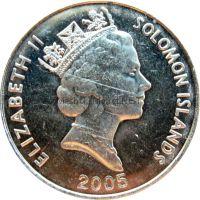 Соломоновы острова 20 центов 2005 г.