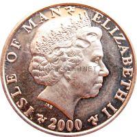 Остров Мэн 1 пенни 2000 г.