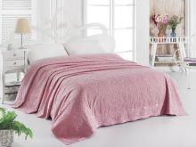 """Простыня  махровая """"KARNA"""" ESRA 160x220 см (розовая) Арт.1787-4"""