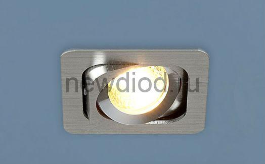 Точечный светильник 1021/1 Алюминиевый под лампу MR16  Хром