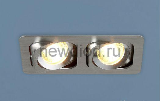 Точечный светильник 1021/2 Алюминиевый под лампу MR16  Хром