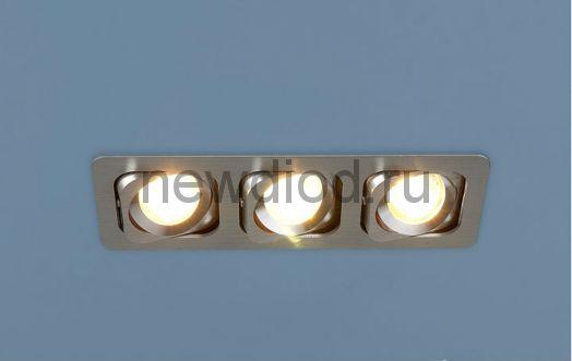 Точечный светильник 1021/3 Алюминиевый под лампу MR16 Хром