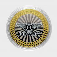 10 РУБЛЕЙ Bentley ЦВЕТНАЯ ЭМАЛЬ - СЕРИЯ АВТОМОБИЛИ МИРА - АНГЛИЙСКИЕ
