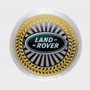 10 РУБЛЕЙ Land Rover ЦВЕТНАЯ ЭМАЛЬ - СЕРИЯ АВТОМОБИЛИ МИРА - АНГЛИЙСКИЕ