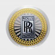 10 РУБЛЕЙ Rolls-Royce ЦВЕТНАЯ ЭМАЛЬ - СЕРИЯ АВТОМОБИЛИ МИРА - АНГЛИЙСКИЕ